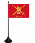 British Army Desk / Table Flag with plastic stand and base.